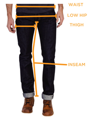 Archetype Riding Jeans Size Chart Graphic