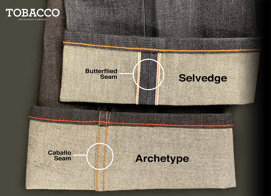 The difference between Archetype and Selvedge Riding Jeans