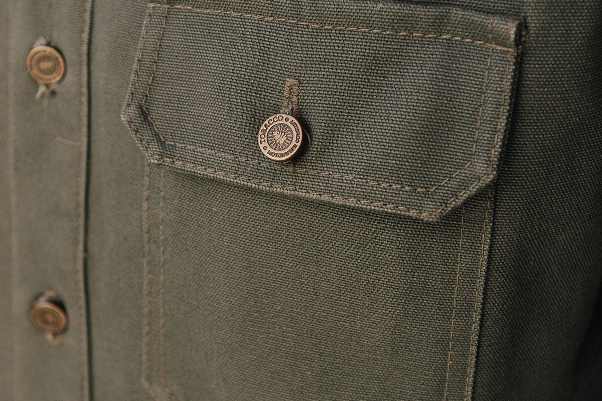 Moss Riding Shirt Pocket Detail