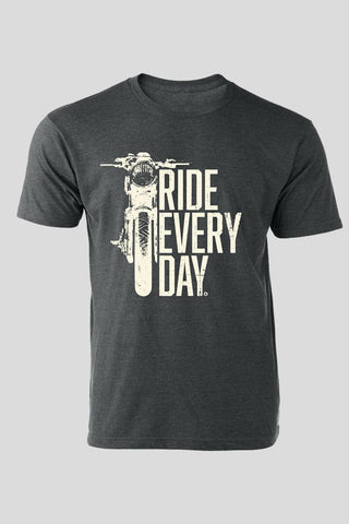 Ride Every Day - Vintage Charcoal