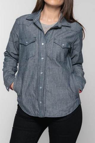 The Riveter Riding Shirt - Indigo Chambray