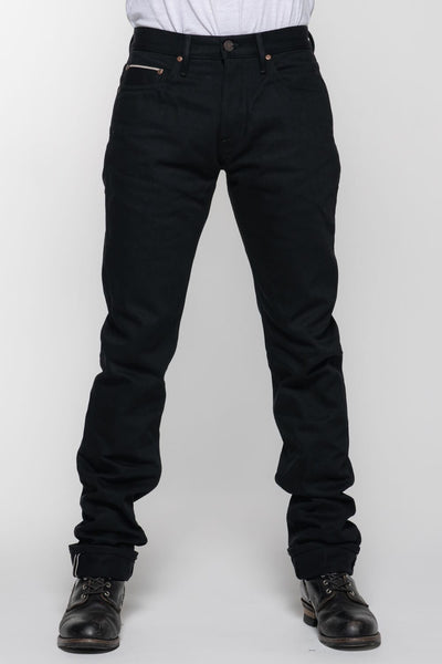 Black Selvedge Protective Riding Jeans