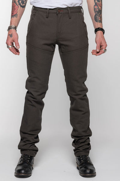 Journeymen - Olive Canvas Protective Riding Pants