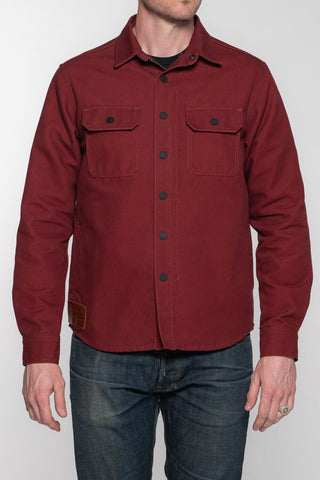 California Riding Shirt 2.0 - Brick Red Canvas