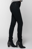 Women's Jet Black Protective Riding Jeans