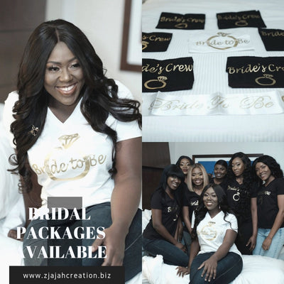 Bridal Packages T- Shirt / Traditional Black Bridal