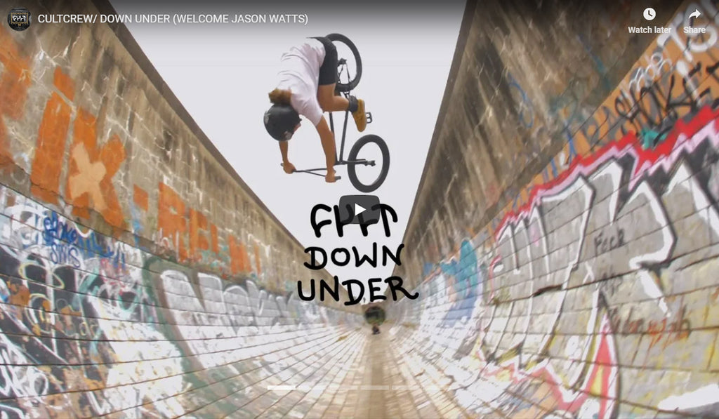 Cult Down Under video (Welcome to the team Jason Watts)