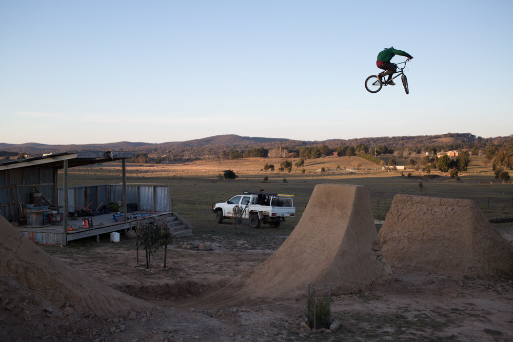 Chris Harti BMX trails step down