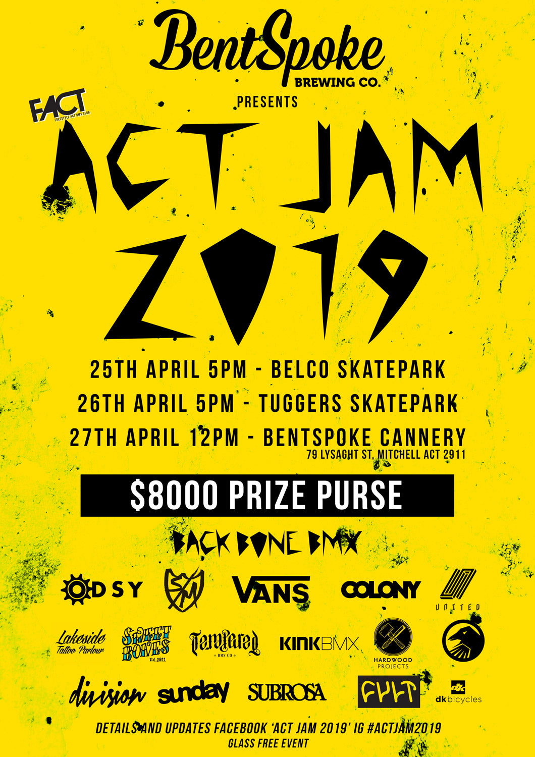 ACT jam 2019 back bone bmx