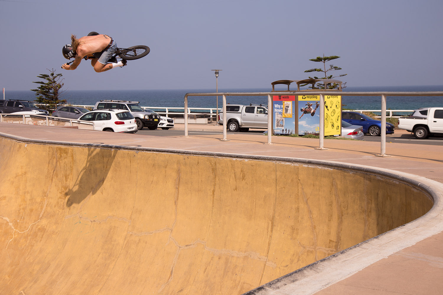 Russell Brindley table Bar Beach skatepark