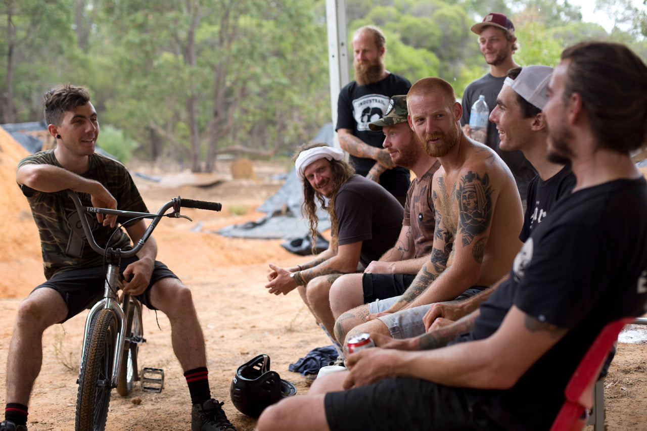 BMX friends from all over the world HVT trails