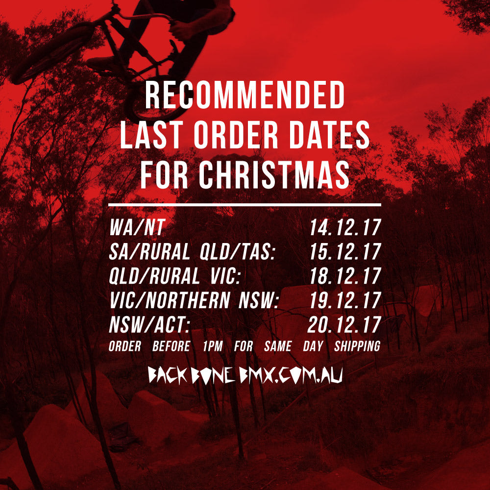 back bone christmas last order dates