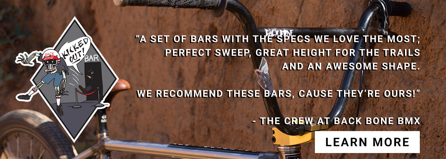 Back Bone BMX Kicked out bars banner