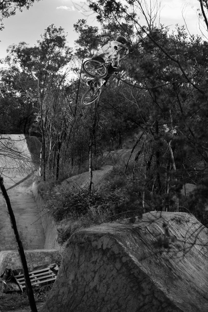 Tyson Jones Peni trail riding Back Bone BMX