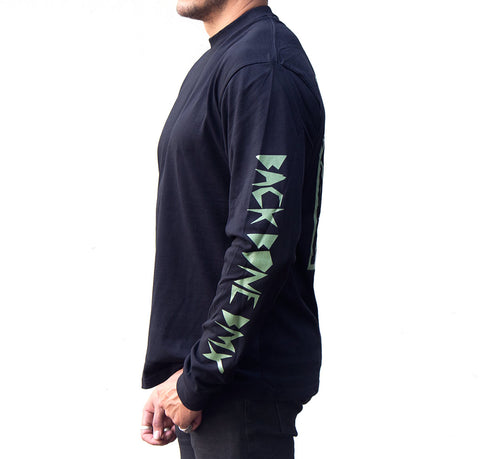 Back Bone BMX Poster Skull Long Sleeve
