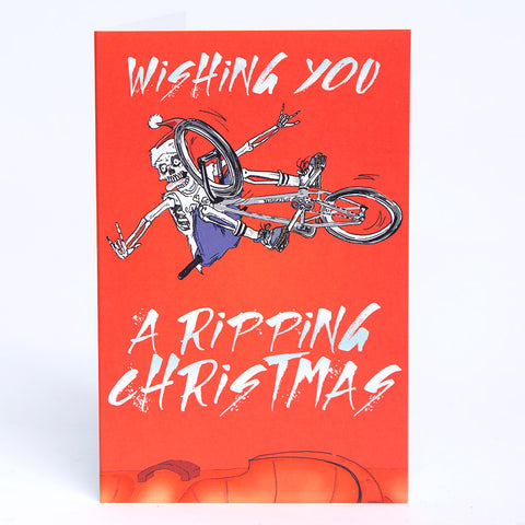 Ripping BMX-Mas Christmas Card For Sale Back Bone BMX Australia