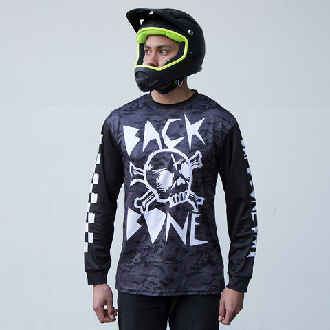 PRE-ORDER: Custom Back Bone BMX Jersey - Camo/Black