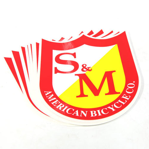 S&M Big Shield Sticker For Sale Back Bone BMX Australia