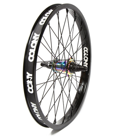 Colony Pintour Freecoaster Wheel - Black/Rainbow - Back Bone BMX Shop Australia