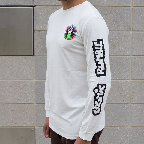 Cosmic Rumble Peace and Rainbows Long Sleeve - Back Bone BMX Shop Australia