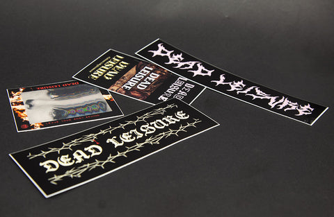 Dead Leisure Stickers - 4 Pack