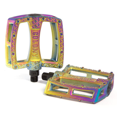 Colony Fantastic Plastic Pedals - Rainbow - Back Bone BMX Shop Australia