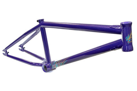 Fly Aire Larry Edgar Signature Frame - Metallic Purple - Back Bone BMX Shop Australia
