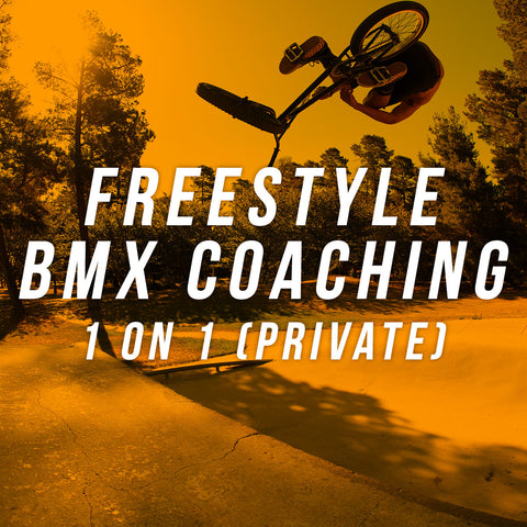 Freestyle BMX coaching: 1 on 1 private class ($65)
