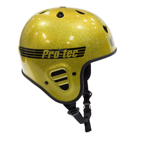 Protec Full Cut Helmet (Certified) - Gold Flake For Sale Back Bone BMX Australia