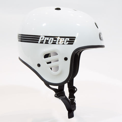 Protec Full Cut Helmet (Certified) - Gloss White For Sale Back Bone BMX Australia