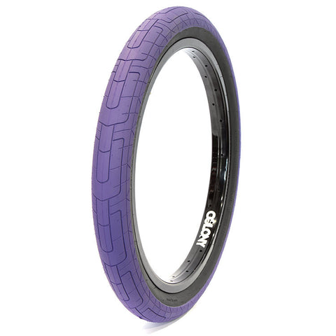 Colony Grip Lock Tire - Purple/Black - Back Bone BMX Shop Australia