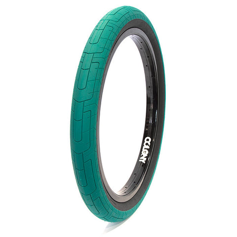 Colony Grip Lock Tire - Emerald/Black - Back Bone BMX Shop Australia