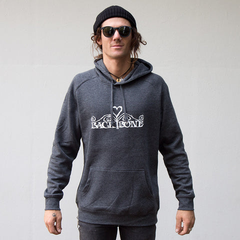 Back Bone BMX Heart Logo Hoody - Back Bone BMX Shop Australia