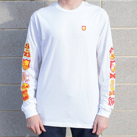 S&M History Long Sleeve - White For Sale Back Bone BMX Australia