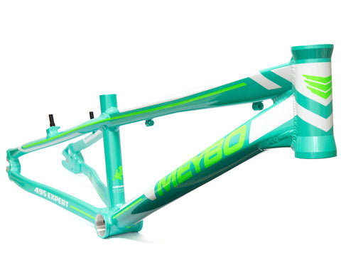 Meybo Holeshot Expert Race Frame - Turquoise/White (2018) For Sale Back Bone BMX Australia