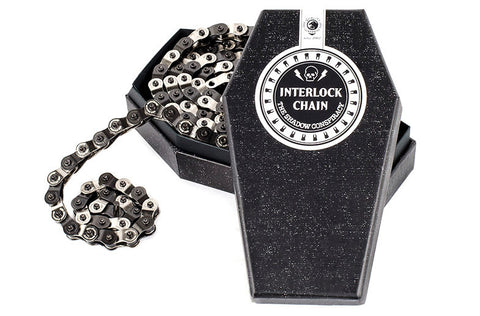 Shadow Conspiracy Interlock V2 Chain - Black/Chrome For Sale Back Bone BMX Australia