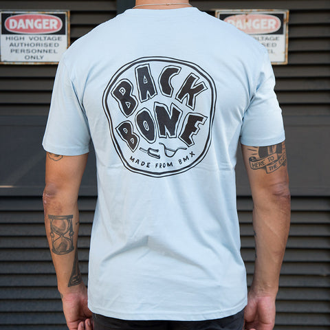 Back Bone BMX Made From BMX T-Shirt - Pale Blue
