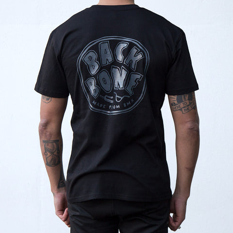 Back Bone BMX Made From BMX T-Shirt - Black/Charcoal For Sale Back Bone BMX Australia