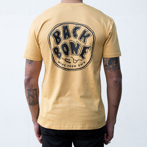 Back Bone BMX Made From BMX T-Shirt - Mustard For Sale Back Bone BMX Australia