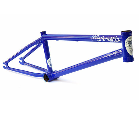 United Mothership Frame - Neon Blue (Nathan Williams Signature) For Sale Back Bone BMX Australia