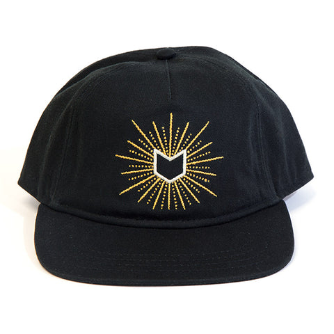 Mutiny Glow 5 Panel Hat - Black For Sale Back Bone BMX Australia