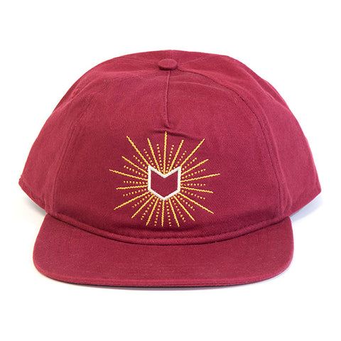Mutiny Glow 5 Panel Hat - Cardinal For Sale Back Bone BMX Australia
