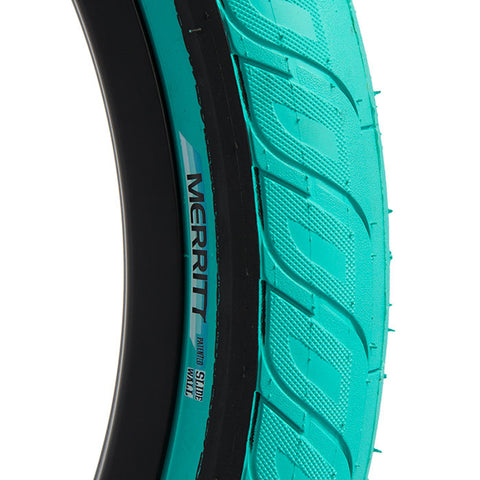 Merritt Option Tire - Teal For Sale Back Bone BMX Australia