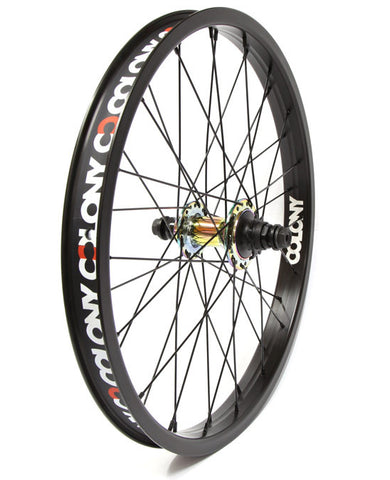 Colony Pintour Rear Wheel - Black/Rainbow - Back Bone BMX Shop Australia
