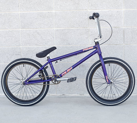 Colony Premise 2018 BMX Bike - Matte Dark Purple - Back Bone BMX Shop Australia