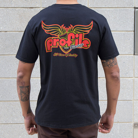 Profile 50th Anniversary Shield T-Shirt For Sale Back Bone BMX Australia