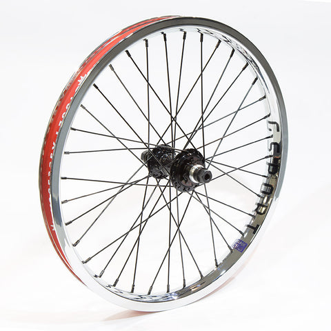 Profile Mini GSport Birdcage Custom Back Wheel - Black/Chrome For Sale Back Bone BMX Australia