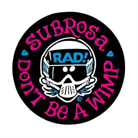 Subrosa Radical Rick No Wimps Sticker For Sale Back Bone BMX Australia