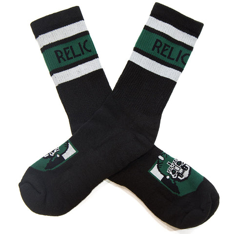 Relic Crest Socks - Black/Green