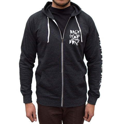 Back Bone BMX Rip Skull Zip Hoody